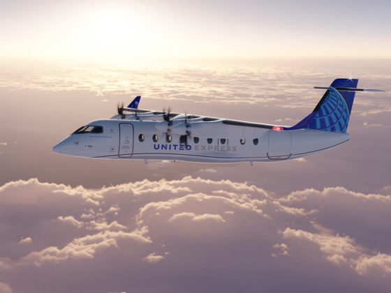 United Airlines Electric Plane