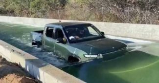 Rivian R1T Water-Fording